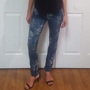 Free People Floral Jeans